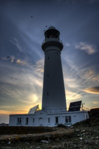 Pircure of Flat Holm Island Light House