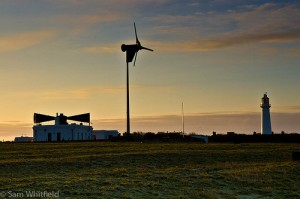 Flat Holm Island, sunset and sustainable development