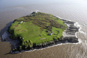 Aerial image of Flat Holm