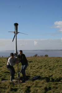 Winching the wind turbine