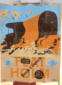 Flat Holm artists' book launch poster