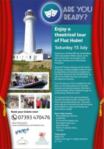 Poster advertising theatre tour of Flat Holm